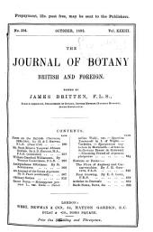 Journal of Botany: British and Foreign, Volume 33