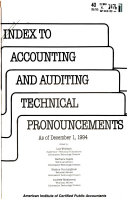 Index to Accounting and Auditing Technical Pronouncements PDF