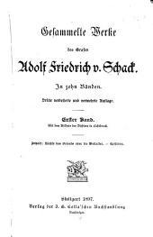 Gesammelte Werke: Bd. Nächte des Orients oder die Weltalter. Episoden