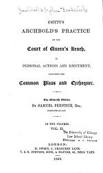 Chitty's Archbold's Practice of the Court of Queen's Bench