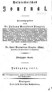 Dinglers polytechnisches journal: Band 50
