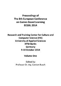 ECGBL2014 8th European Conference on Games Based Learning PDF