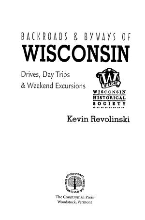 Backroads   Byways of Wisconsin PDF