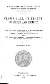 Crown-gall of Plants: Its Cause and Remedy