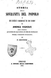 Storia della sovranita del popolo e dei delitti commessi in suo nome di Andrea Vigroux (dell'Aveyron)