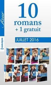 10 romans Azur + 1 gratuit (no3725 à 3734 - Juillet 2016)