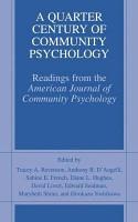 A Quarter Century of Community Psychology PDF