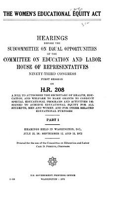 The Women's Educational Equity Act