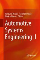 Automotive Systems Engineering II PDF