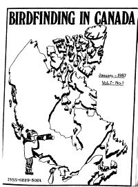 Birdfinding in Canada Book