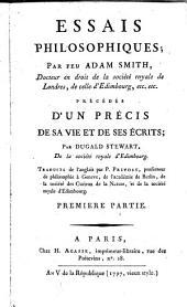 Essais philosophiques: précédés d'un précis de sa vie et de ses écrits, Volume1