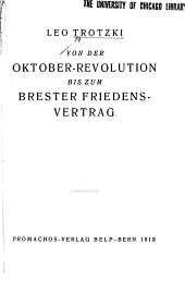 Von der oktober-revolution bis zum Brester friedens-vertrag