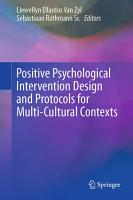 Positive Psychological Intervention Design and Protocols for Multi Cultural Contexts PDF