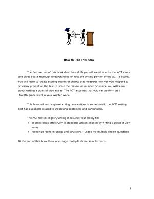 ACT  The Writing Test PDF