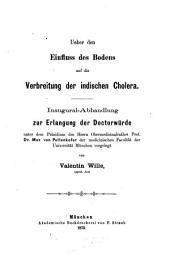 Über den Einfluß des Bodens auf die Verbreitung der indischen Cholera
