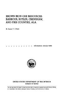 Brown Iron Ore Resources