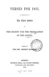 Verses for 1851, in commemoration of the third jubilee, ed. by E. Hawkins