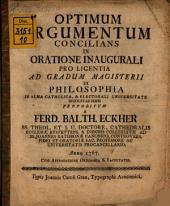 Optimum argumentum concilians