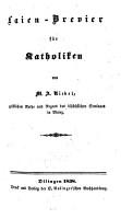 Laien Brevier f  r Katholiken PDF