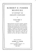 Robert D. Fisher Manual of Extinct Or Obsolete Companies