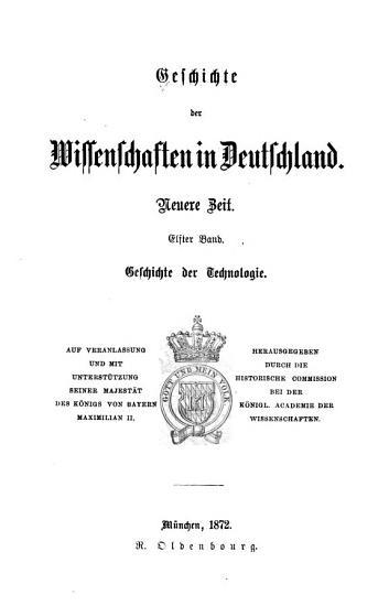 Geschichte der Technologie seit der Mitte des achtzehnten Jahrhunderts PDF