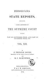 Pennsylvania State Reports: Volume 12