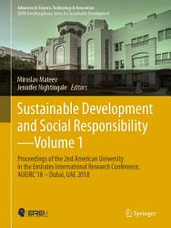 Sustainable Development And Social Responsibility Volume 1 Book PDF