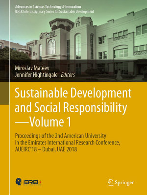 Sustainable Development and Social Responsibility   Volume 1