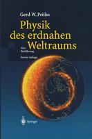 Physik des erdnahen Weltraums PDF