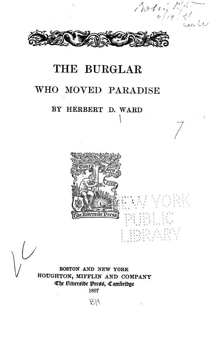 The Burglar who Moved Paradise