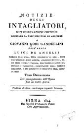 Notizie istoriche degli intagliatori: Volume 13