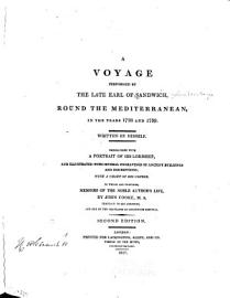 A Voyage Performed By The Late Earl Of Sandwich
