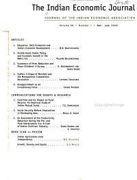 The Indian Economic Journal PDF