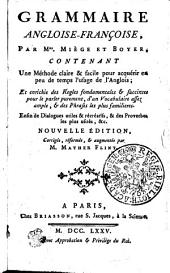 GRAMMAIRE ANGLOISE-FRANÇOIS