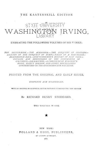 The Kaaterskill Edition of Washington Irving PDF