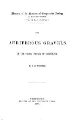 Memoirs of the Museum of Comparative Zool̈ogy at Harvard College