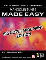 Mandolin Tunes Made Easy  Big Note Large Print Edition PDF