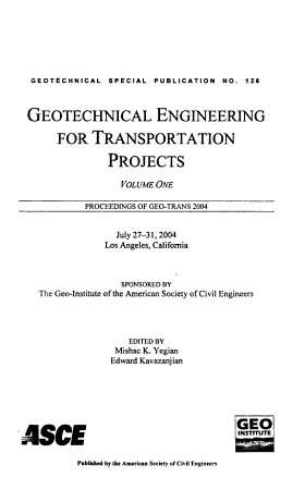 Geotechnical Engineering for Transportation Projects PDF