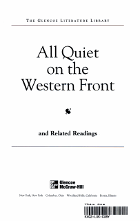 All Quiet on the Western Front with Related Readings Book