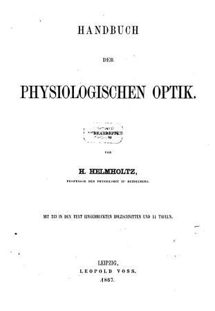 Handbuch der physiologischen Optik PDF
