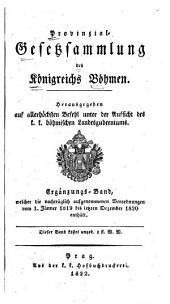 Provincial-gesetzsammlung des Königreichs Bömen: Bände 1-2