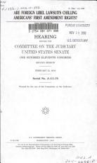 Are Foreign Libel Lawsuits Chilling Americans  First Amendment Rights  PDF