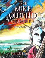 The Mike Oldfield Chronology  2nd Edition  PDF