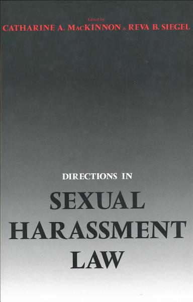 Download Directions in Sexual Harassment Law Book