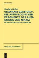 Hadriani genitura      Die astrologischen Fragmente des Antigonos von Nikaia