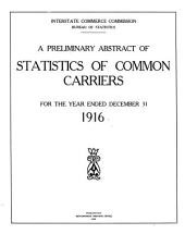 Preliminary statistics of common carriers