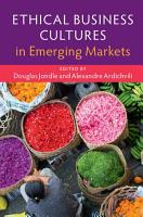 Ethical Business Cultures in Emerging Markets PDF