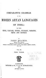 A Comparative Grammar of the Modern Aryan Languages of India: The verb