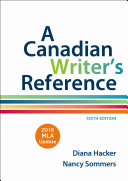 A Canadian Writer s Reference with 2016 MLA Update