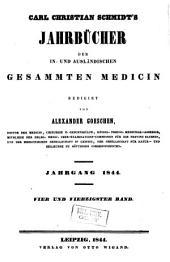 Schmidt's Jahrbücher der in- und ausländischen gesammten Medicin: Band 44